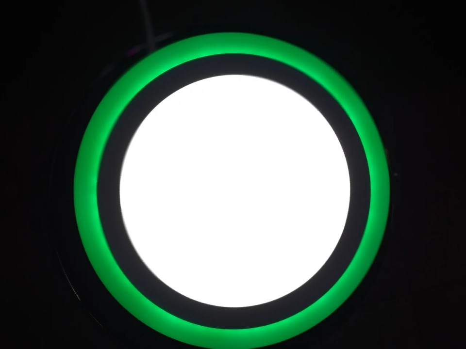 LED SURFACE SIDE COLOR ROUND 12+6=18W WH+GREEN